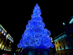 Blue Xmas Tree lights - Sebastian Dooris